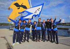 Firande av OS-medaljer på KSSS hamnplan