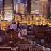 Shanghai cityscape featuring the Bellagio Hotel on the Suzhou Creek