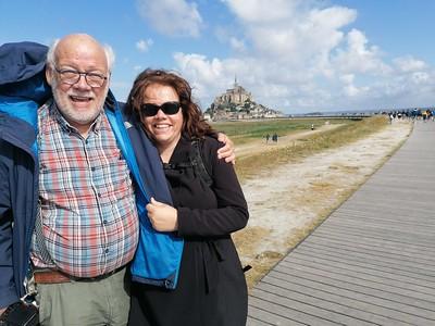Pap & ik voor Mont Saint Michel