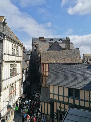 Huizen op Mont Saint Michel