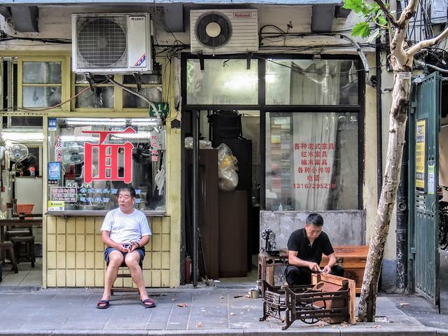 Old furniture shop and noodle shop