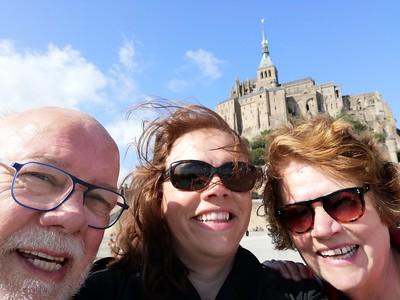 Selfie bij Mont Saint Michel