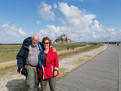 Pap & Mam voor Mont Saint Michel