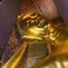 Face of The Reclining Buddha. Wat Pho. Bangkok. Thailand