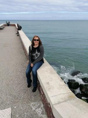 Ik op de pier