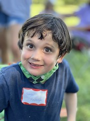 Sawyer today at a picnic at his school