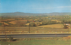 Middletown, MD - vintage postcard of Middletown Valley and U.S. 40 - circa 1950's