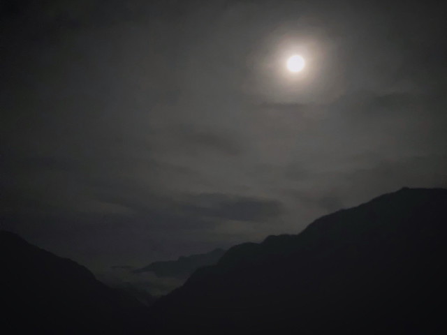Photo:Full Moon View of 屏風山 Pingfengshan in 太魯閣 Taroko Gorge National Park in Hualien, Taiwan By midnightbreakfastcafe