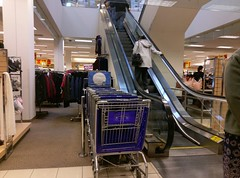 Resist the temptation (to take one of those carts up the escalator)!
