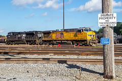 UP 6258   GE C44AC   UP Sargent Yard
