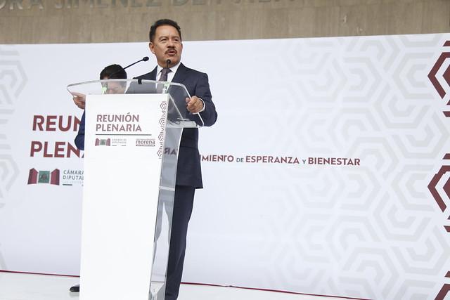 24/08/2021 Conferencia Prensa Coordinador Ignacio Mier - Dirigente Mario Delgado