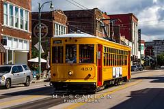 MATA 453   Gomaco Replica Birney Trolley    MATA Main Street Line