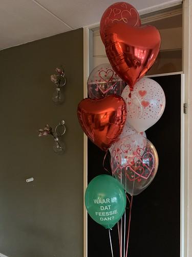 Ballonboeket Liefde Valentijnsdag Rotterdam