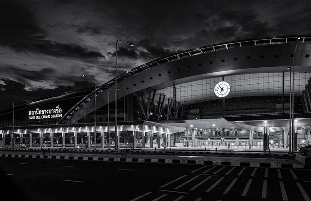 Bang Sue Grand Station in B&W