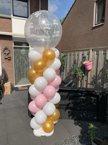 Ballonpilaar Breed Rond Verjaardag