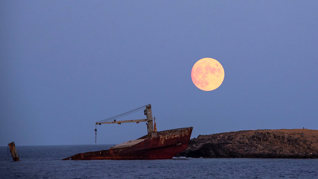 moonrise over the shipwreck