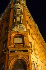 Bank at night