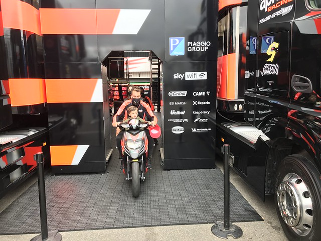 MotoGP Aprilia podium