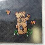 Painted window Teddy