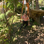Building tree forts and swings.