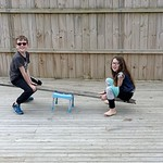 On a do it yourself seesaw!