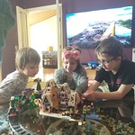 Playing with Mum's special lego set together