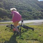 Out biking.