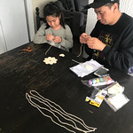 Making a wind chime with Dad