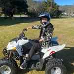 On my cool quad bike