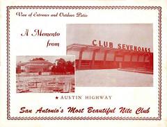Souvenir Photo Cover - Club Sevenoaks, 1400 Austin Highway, San Antonio, Texas, 1953