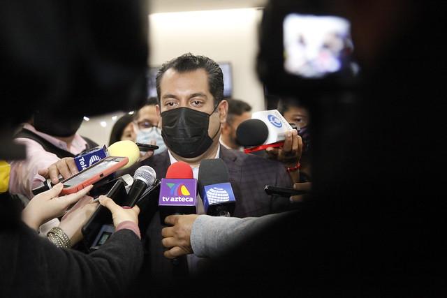 07/09/2021 Presidente Sergio Gutiérrez Luna Presenta Director Comunicacion Social Cámara Diputados