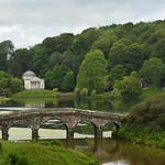 Palladian Bridge and Pantheon Stourhead by Elaine Robinson