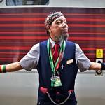 Nigel the train man by Rich Goldthorpe