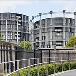 Gasometer Apartments, St Pancaras by Peter Fox