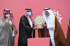 تتويج الفائزين برموز مهرجان ولي العهد بالمملكة العربية السعودية