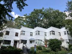 Bauhaus style row houses, 17th Street NW near Piney Branch Parkway, Washington, D.C.