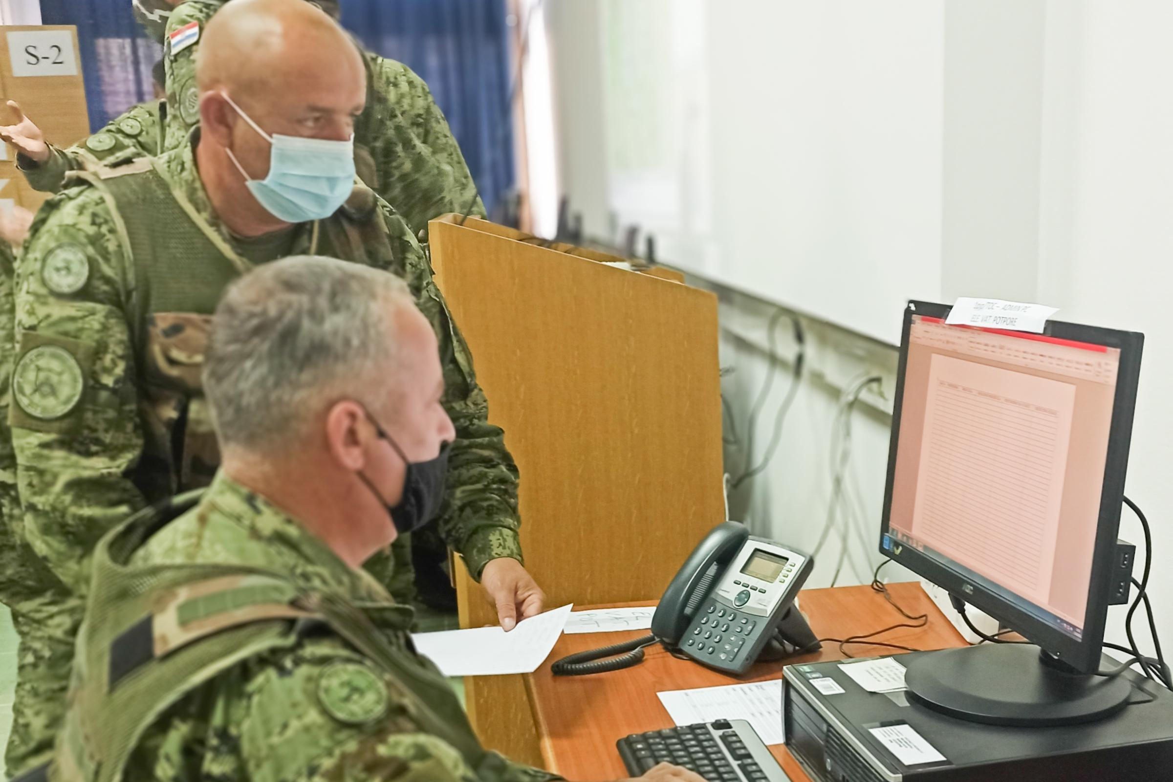 U simulacijskom središtu započela računalna vježba pričuvnih postrojbi