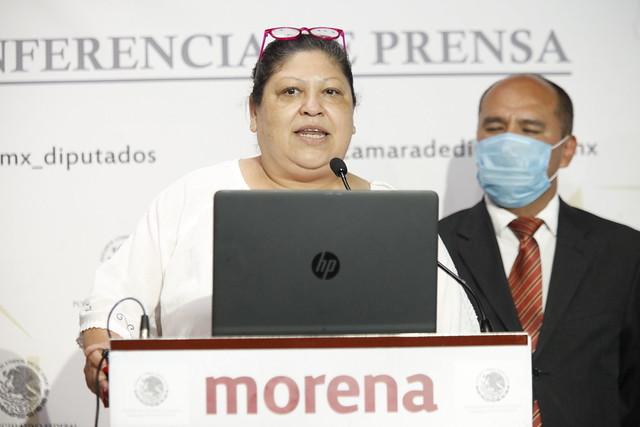 14/09/2021 Conferencia Prensa Dip Aleida Alavez Diputados Migrantes