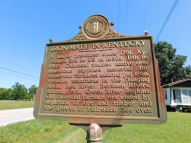 Photo:Iron Made in Kentucky Historic Marker By jimmywayne