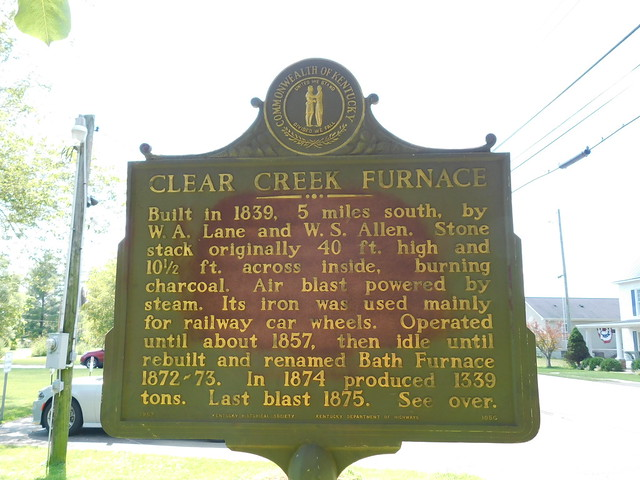 Photo:Clear Creek Furnace Historic Marker By jimmywayne