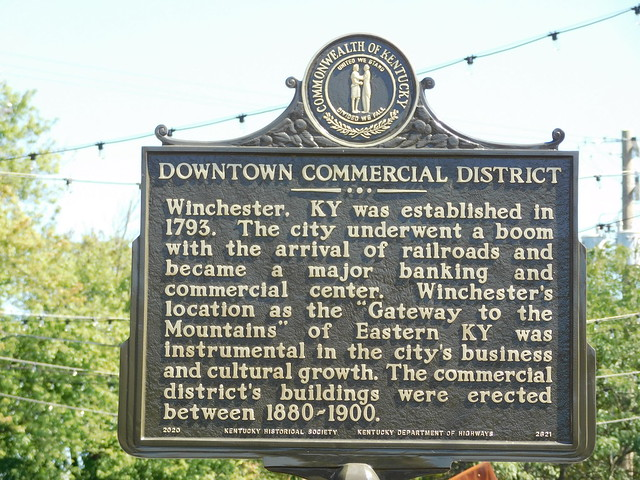Photo:Downtown Commercial District Historic Marker By jimmywayne