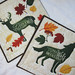 """Quilted Trivets (2)  set #2   $30   Autumn Wilderness Animals.  10.5"""" square.  Click here for more info"""