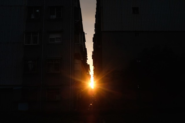 Alley sunset