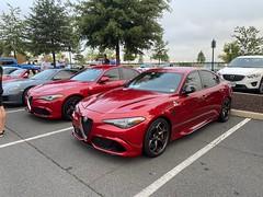 2017 (R) and 2018 (L) Alfa Romeo Giulia Quadrifoglios