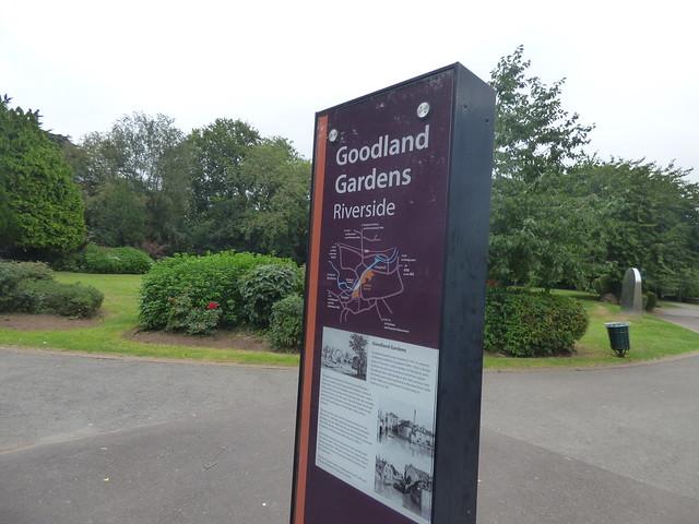 Photo:Goodland Gardens, Taunton - Riverside sign By ell brown