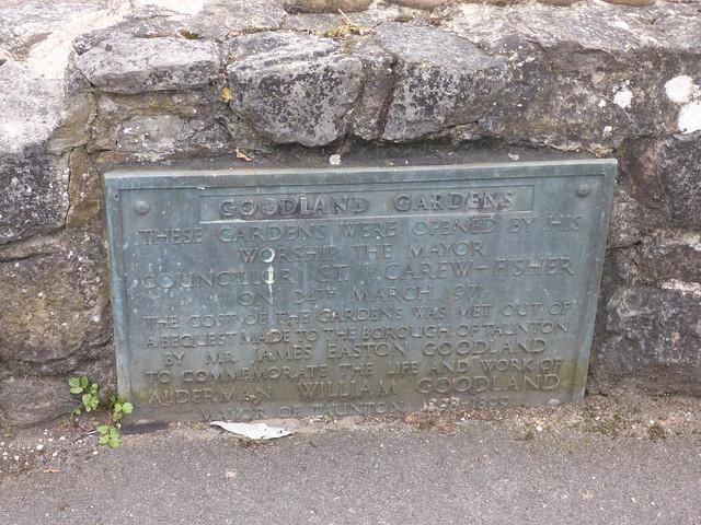 Photo:Goodland Gardens, Taunton - plaque By ell brown