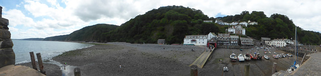 Photo:The Quay from The Pier at Clovelly - Panoramic By ell brown