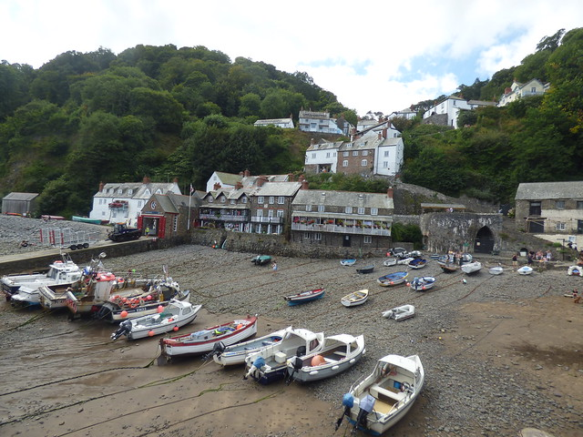 Photo:The Quay from The Pier at Clovelly - RNLI Clovelly Lifeboat Station By ell brown