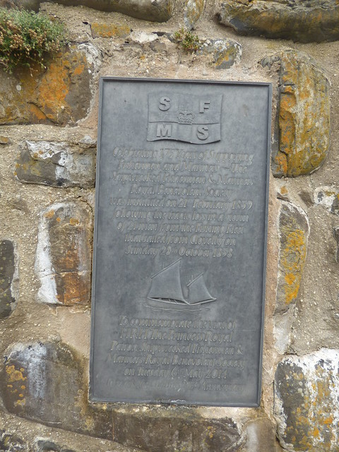 Photo:The Pier at the Quay in Clovelly - Shipwrecked Mariners' Society plaque By ell brown