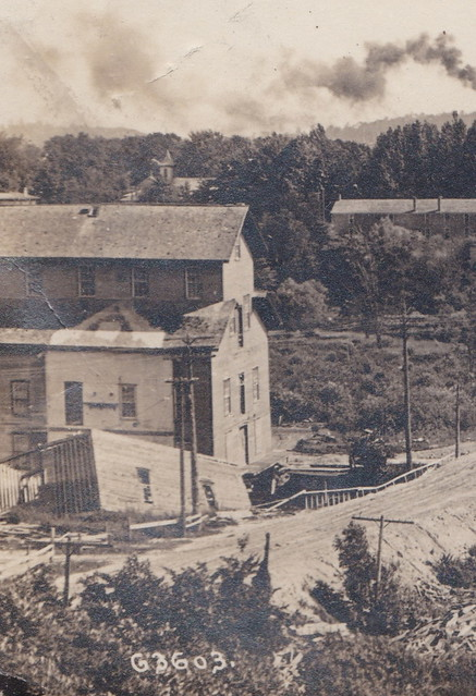 Photo:CEN Hart MI 1908 RPPC Gurney Roller Flour Grain Mill Oceana Mill DISASTER 1- By UpNorth Memories - Don Harrison